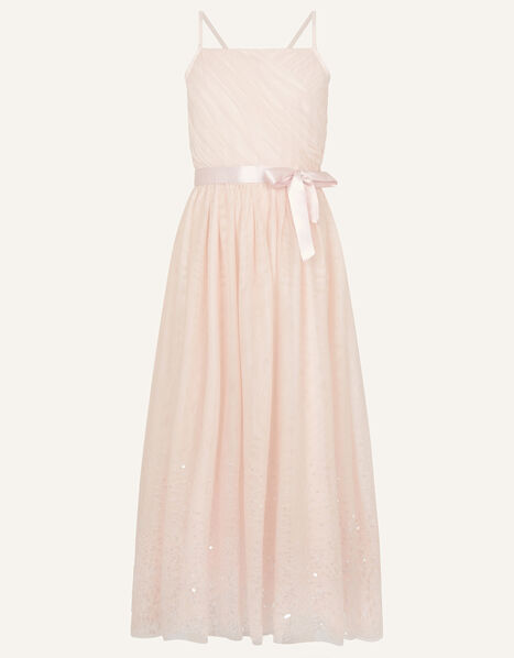 Lana Sequin Hem Maxi Prom Dress  Pink, Pink (PALE PINK), large