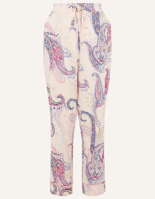 Paisley Print Pyjama Bottoms, Pink (PINK), large