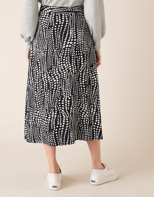 Monochrome Spot Midi Skirt, Black (BLACK), large