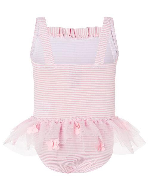 Baby Seersucker Flower Swimsuit , Pink (PINK), large