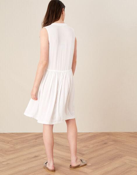 Mirrorwork Dress in LENZING™ ECOVERO™ White, White (WHITE), large
