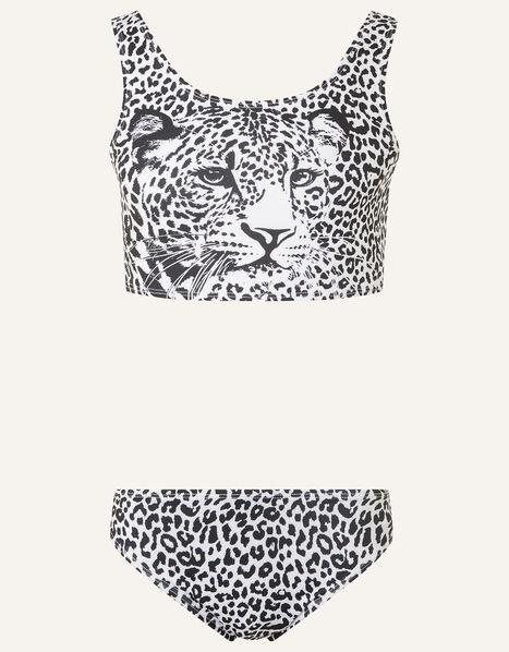 Cheetah Bikini Set Black, Black (BLACK), large
