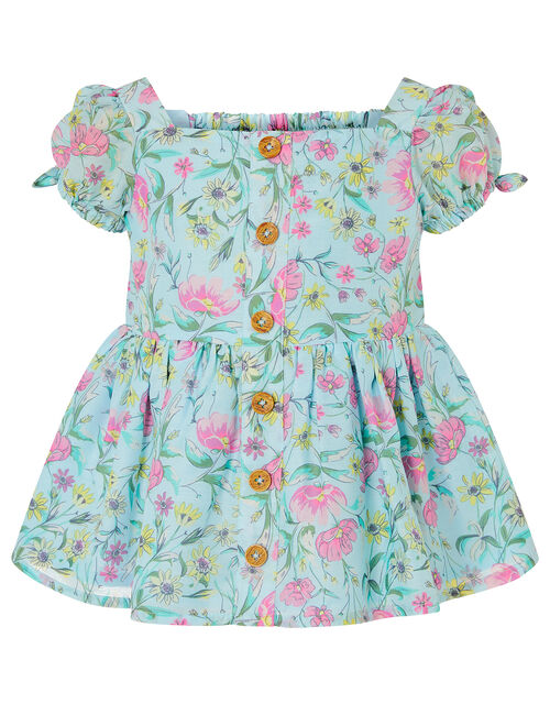 Baby Floral Top and Shorts Set, Green (GREEN), large