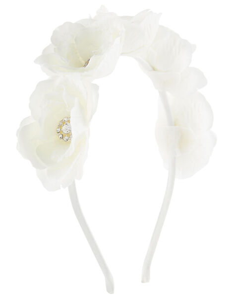 3D Flower Sparkle Headband, , large