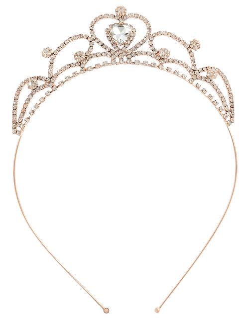 Amore Heart Crystal Tiara, , large