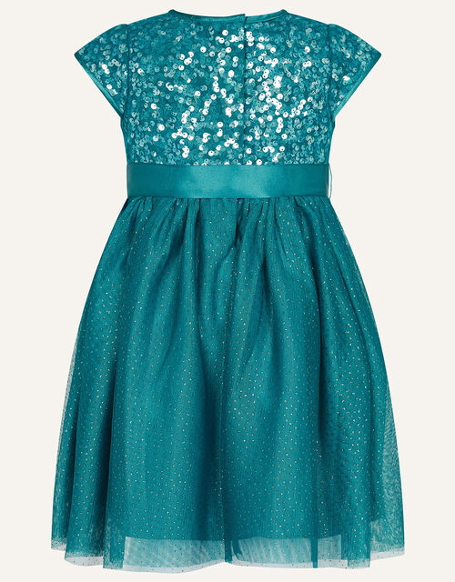 Baby Paige Sequin Dress, Teal (TEAL), large