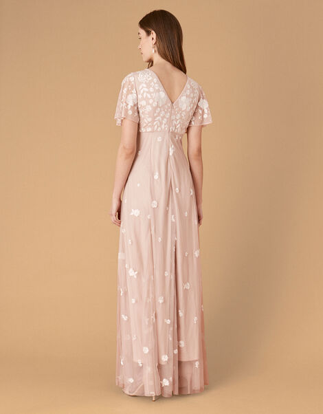 Kaitlyn Embroidered Maxi Dress Pink, Pink (PINK), large