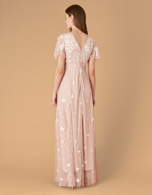 Kaitlyn Embroidered Maxi Dress, Pink (PINK), large