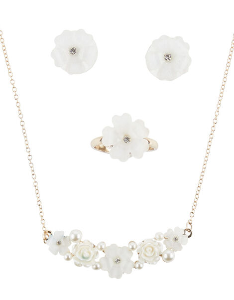 Rebecca Gem Flower Jewellery Set , , large