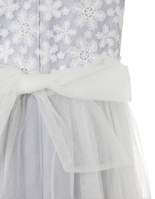 Floral Lace Maxi Dress, Grey (GREY), large