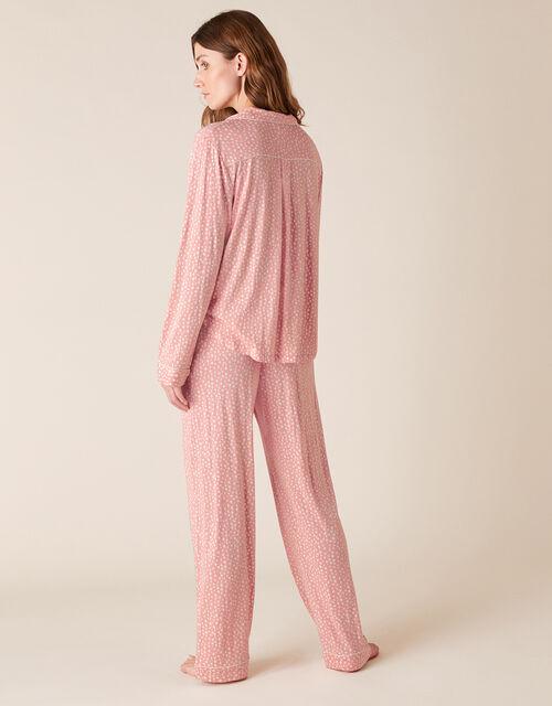 Polka-Dot Print Pyjama Set, Pink (PINK), large