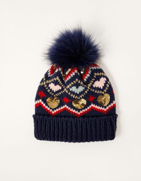 Cherry Sequin Chenille Hat Multi, Multi (MULTI), large