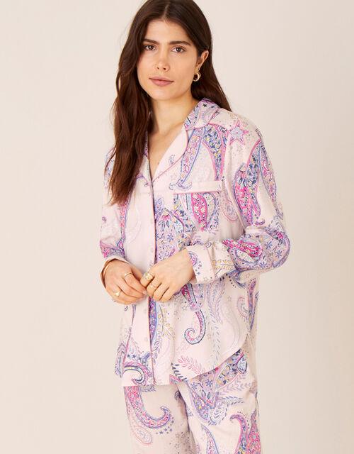 Paisley Print Pyjama Shirt, Pink (PINK), large