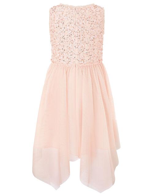Sequin Hanky Hem Dress, , large