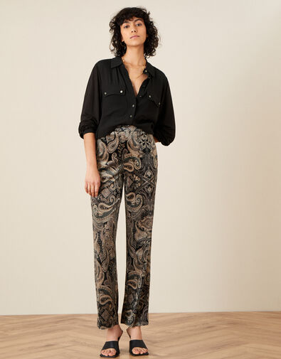 Verity Velvet Trousers  Brown, Brown (CHOCOLATE), large