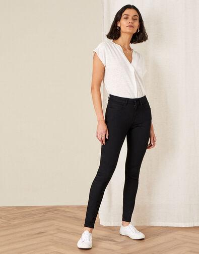 Nadine Regular Length Jeans with Organic Cotton Black, Black (BLACK), large