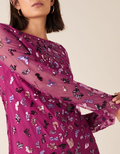 Eugiene Sequin Tunic Dress, Pink (PINK), large