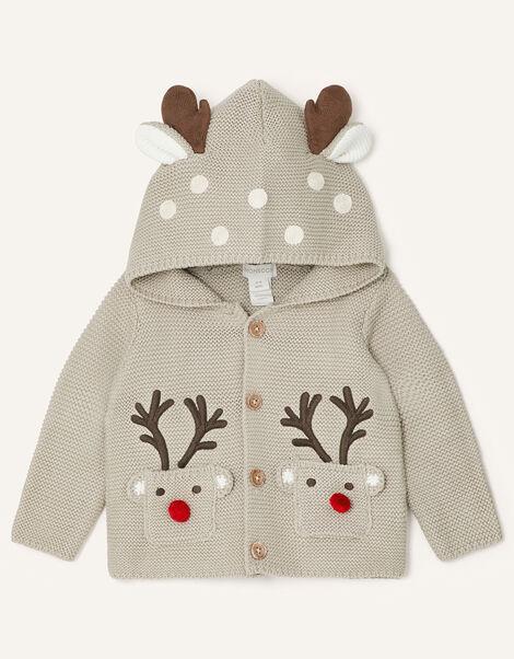 Newborn Reindeer Cardigan Multi, Multi (MULTI), large