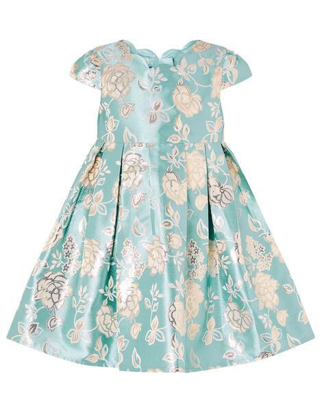 Baby Rose Jacquard Dress Blue, Blue (AQUA), large