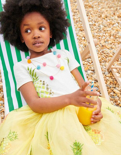 Sequin Pineapple Disco Dress, Yellow (YELLOW), large