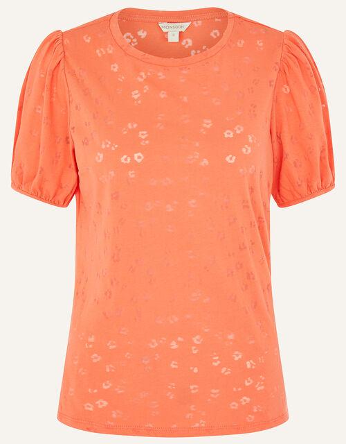 Petunia Animal Jersey T-Shirt, Orange (ORANGE), large