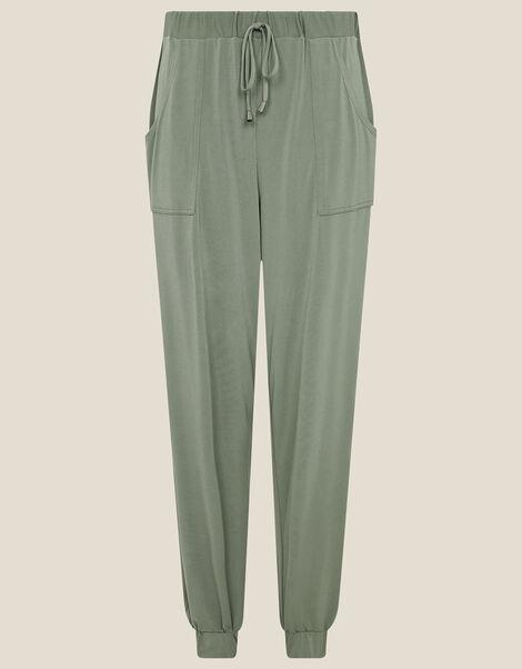 LOUNGE Kimberley Jersey Hareem Trousers Green, Green (KHAKI), large