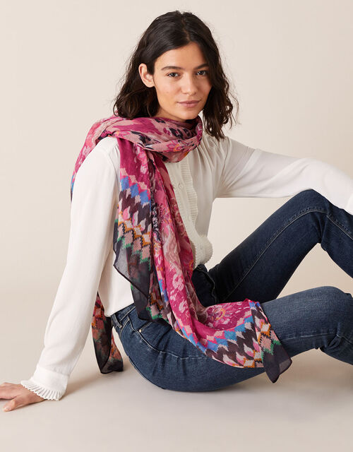 Paisley Animal Scarf in Recycled Fabric, , large