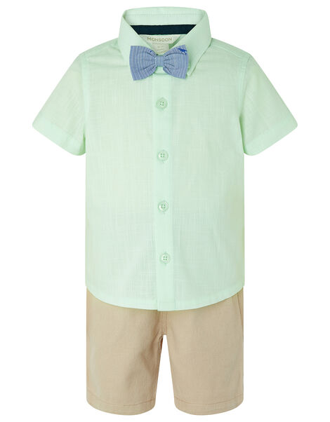 Mateo Shirt and Shorts Set with Dinosaur Bow Tie Green, Green (MINT), large
