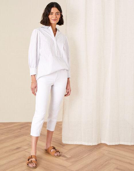 Idabella Cropped Jeans White, White (WHITE), large