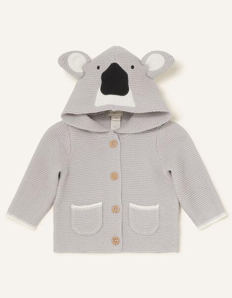 Newborn Koala Cardigan Grey, Grey (GREY), large
