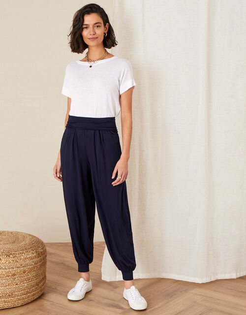 LOUNGE Heidi Jersey Hareem Trousers , Blue (NAVY), large