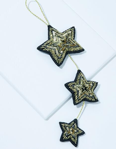 Triple Star Velvet Hanging Decoration, , large