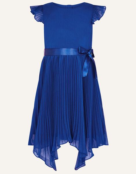 Rubina Pleated Dress Blue, Blue (BLUE), large