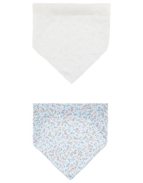 Floral and Broderie Head Scarf Set, , large
