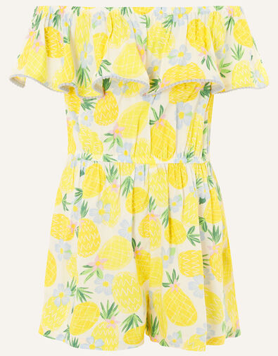 Pineapple Culotte Playsuit in LENZING™ ECOVERO™ Yellow, Yellow (YELLOW), large
