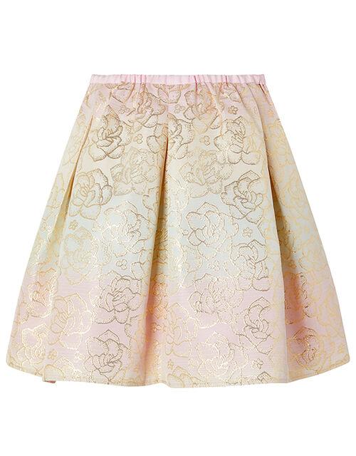 Sherbert Floral Jacquard Skirt, Multi (MULTI), large