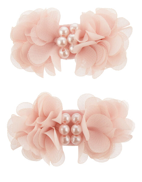 Ruffle Bow Hair Clips , , large