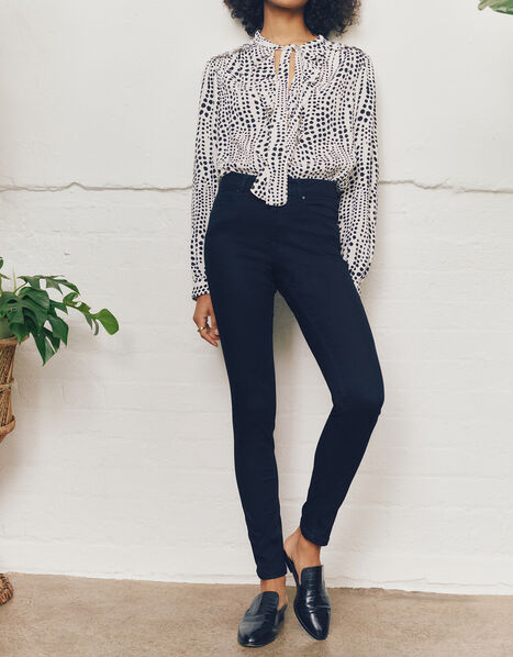 Nadine Regular Length Jeans with Organic Cotton Blue, Blue (INDIGO), large