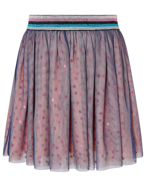 Colour-Block Sequin Skirt, Pink (PINK), large