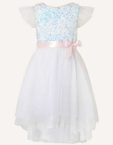 Glitzy Sequin Fairy Dress Ivory, Ivory (IVORY), large