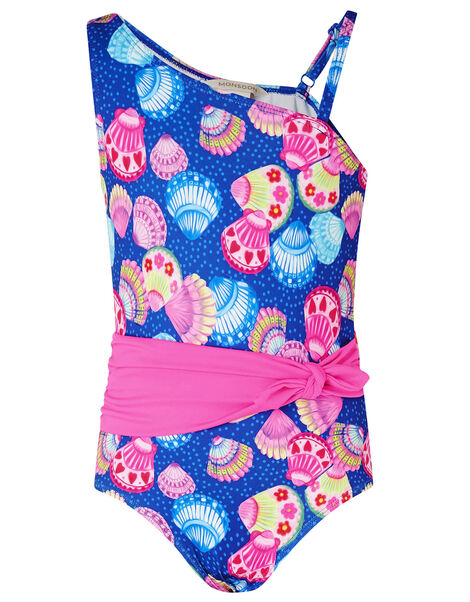 Shell Print Belted Swimsuit Multi, Multi (MULTI), large