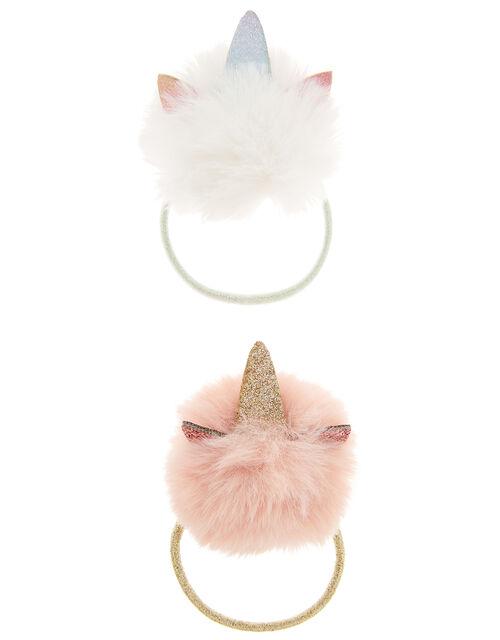 Pom-Pom Unicorn Hair Band Set, , large