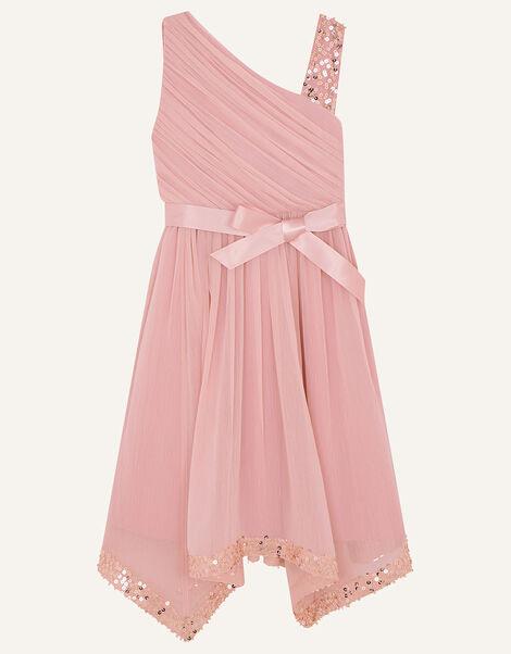 Sequin One-Shoulder Dress Pink, Pink (PINK), large