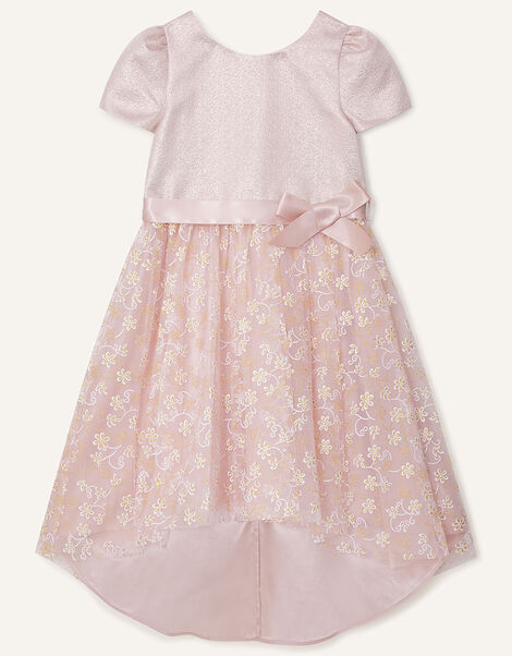 Maisie Shimmer Floral High-Low Dress Pink, Pink (PINK), large