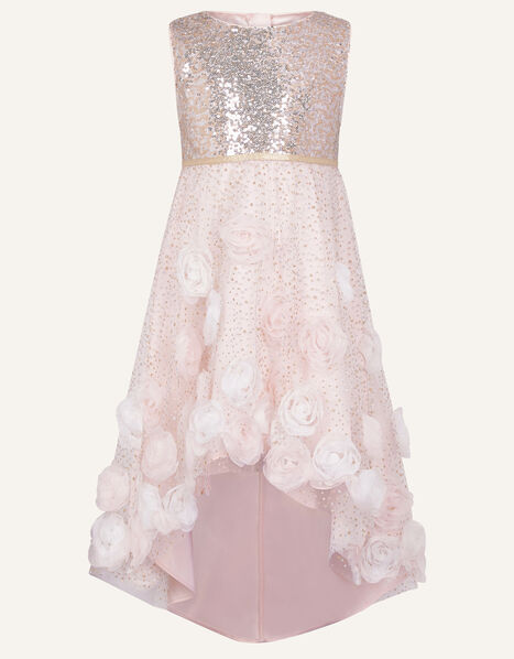 Sparkle 3D Flower Dress Pink, Pink (PINK), large