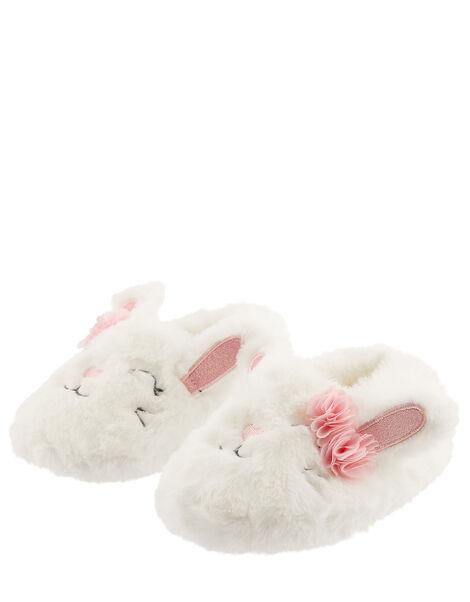 Bunny Fluffy Slippers Ivory, Ivory (IVORY), large