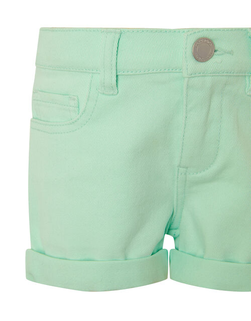 Denim Shorts, Blue (AQUA), large