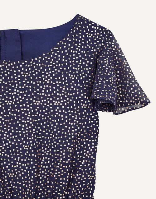 Bexley Glitter Print Jumpsuit , Blue (NAVY), large