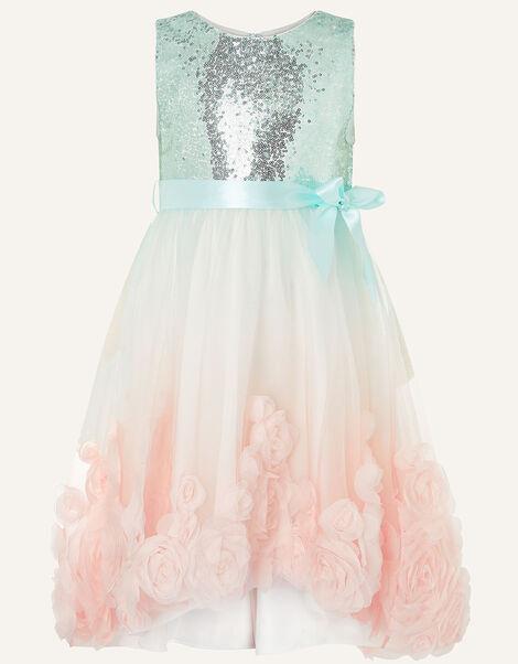 Ombre Sequin High-Low Dress  Multi, Multi (MULTI), large