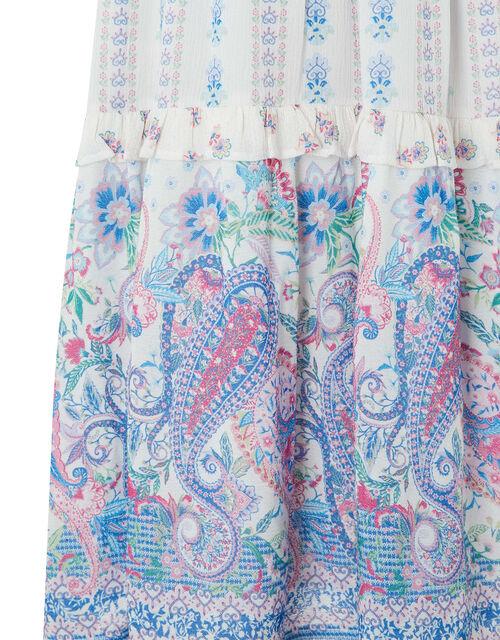 Adra Paisley Print Dress in LENZING™ ECOVERO™, Ivory (IVORY), large